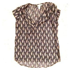 Giraffe print blouse, H&M